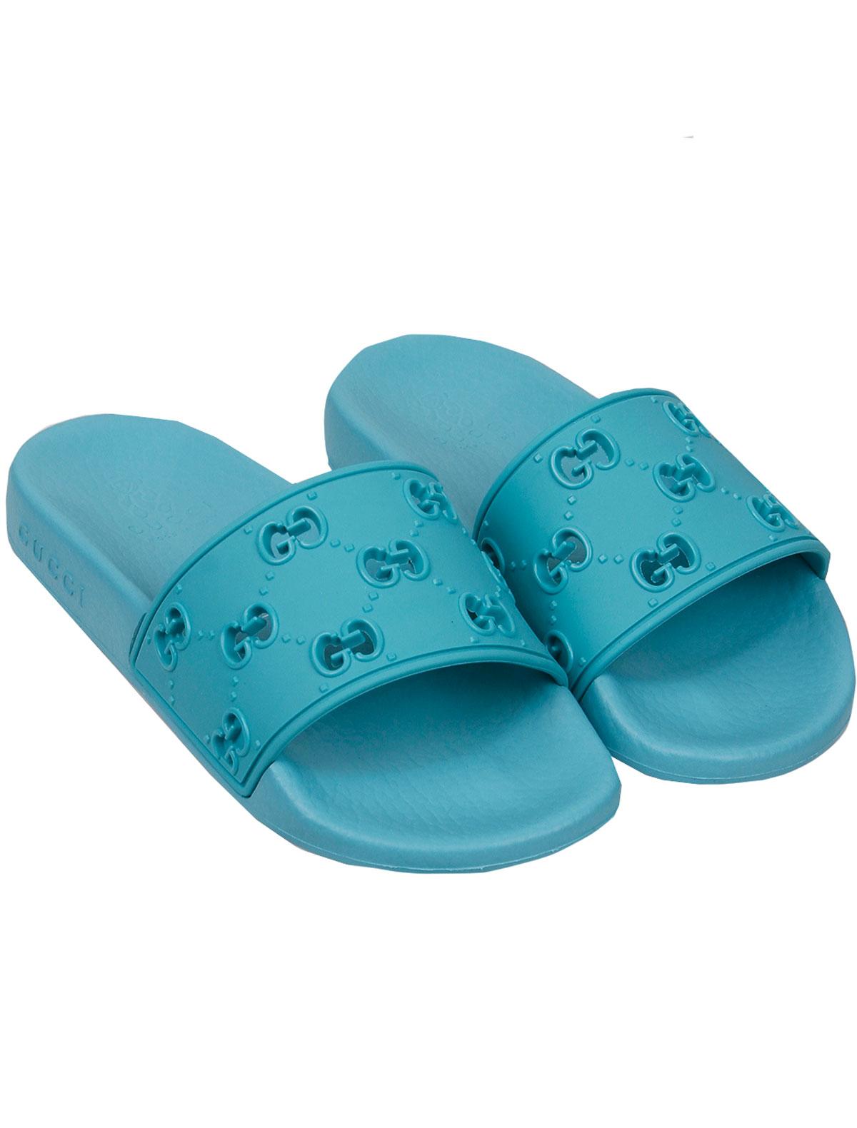 2159477, Шлепанцы пляжные GUCCI, голубой, 2281529070059  - купить со скидкой