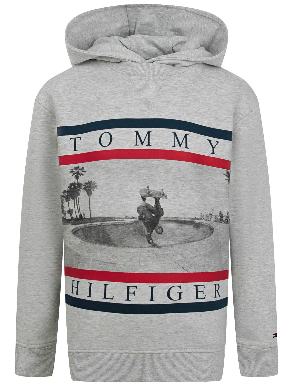 Худи TOMMY HILFIGER серого цвета