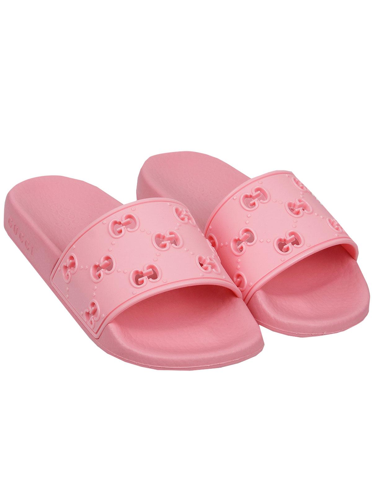 Купить 2159489, Шлепанцы пляжные GUCCI, розовый, Женский, 2282609070044