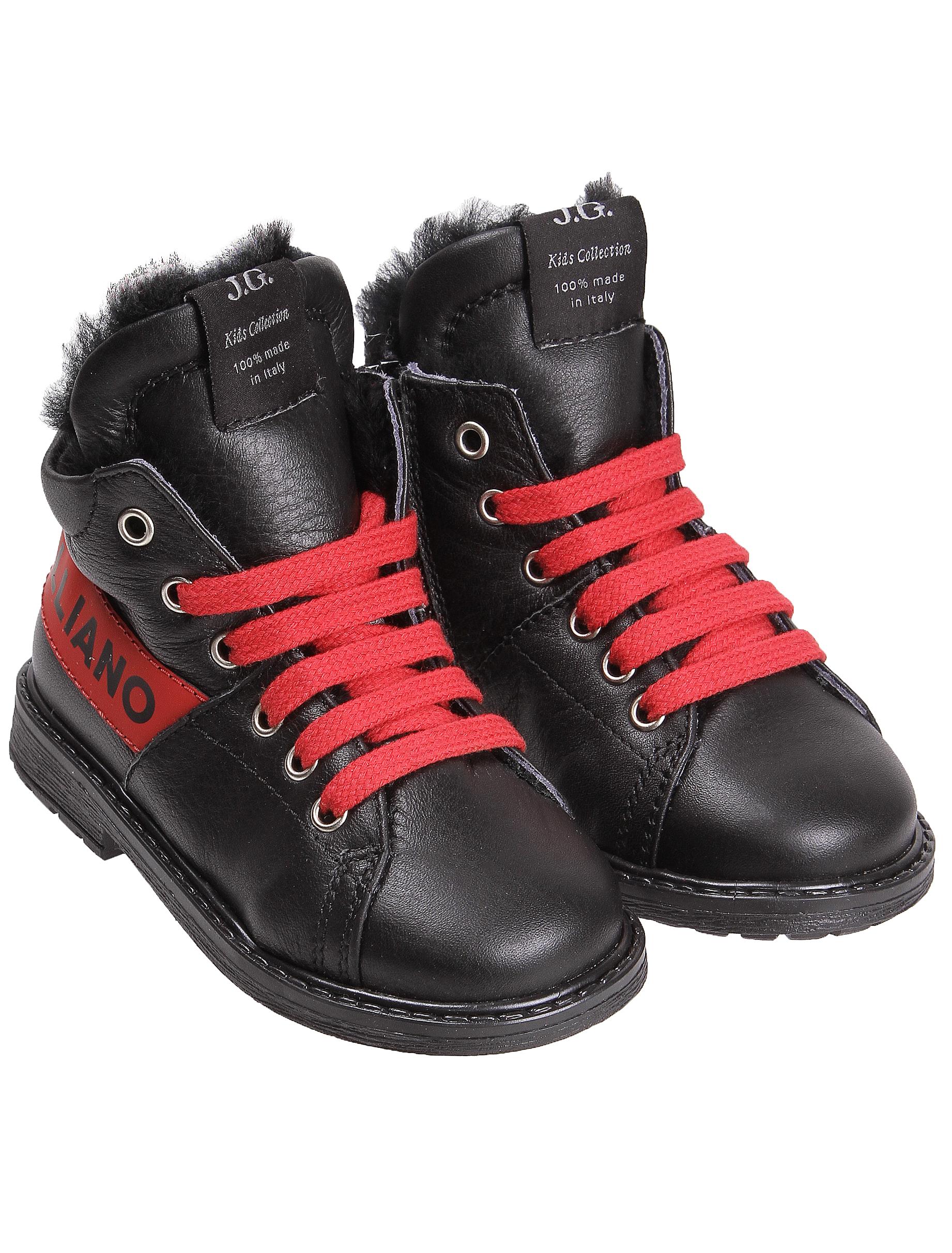 Купить 1916829, Ботинки John Galliano, черный, Мужской, 2031119880847