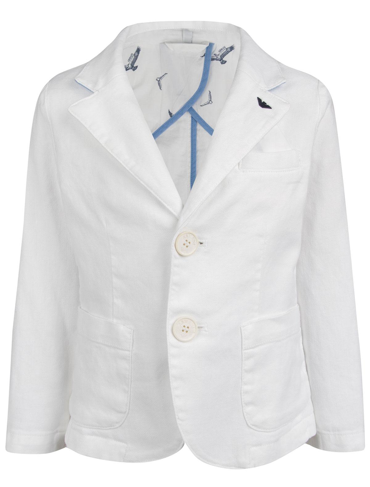 Купить 1899760, Пиджак Armani Junior, белый, Мужской, 1331219670029