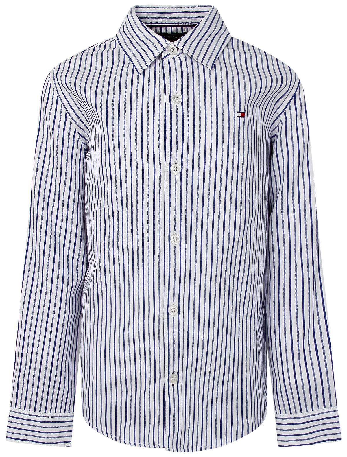Купить 2063091, Рубашка TOMMY HILFIGER, белый, Мужской, 1011219980372