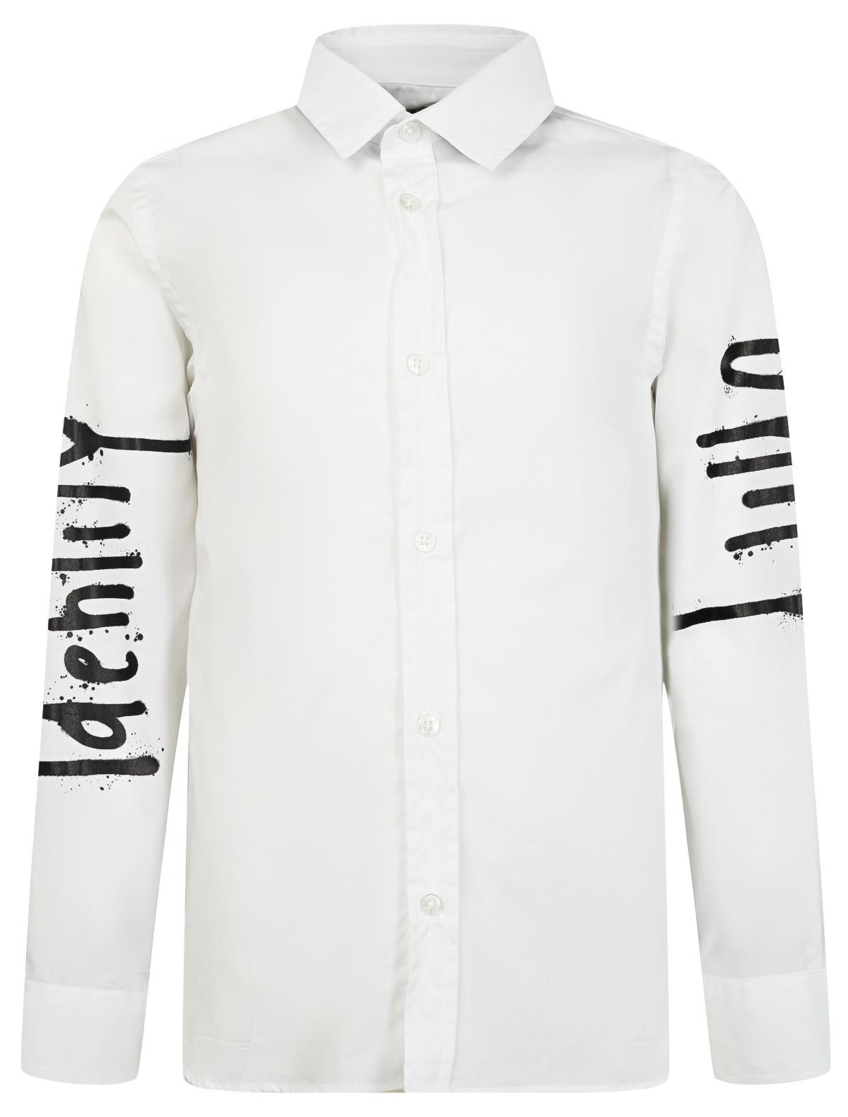 Купить 2032779, Рубашка MSGM, белый, Мужской, 1011219980051