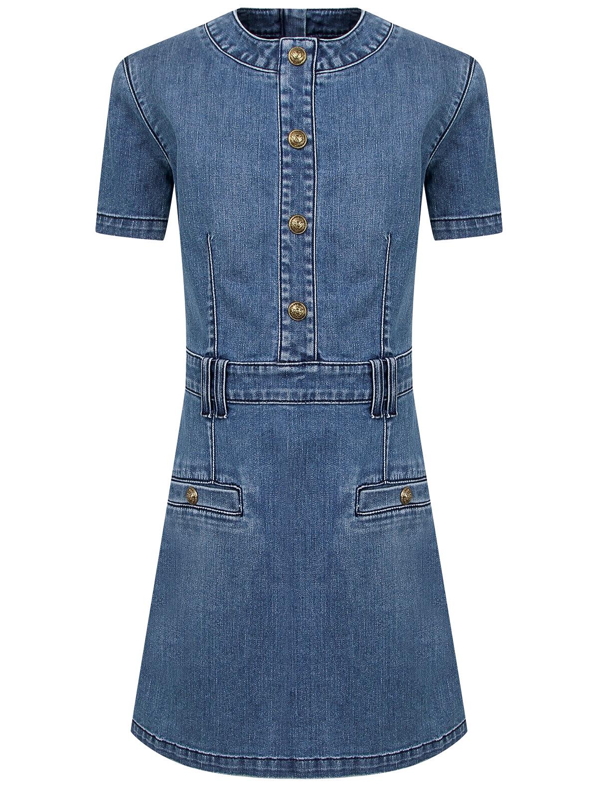 Платье Balmain синего цвета