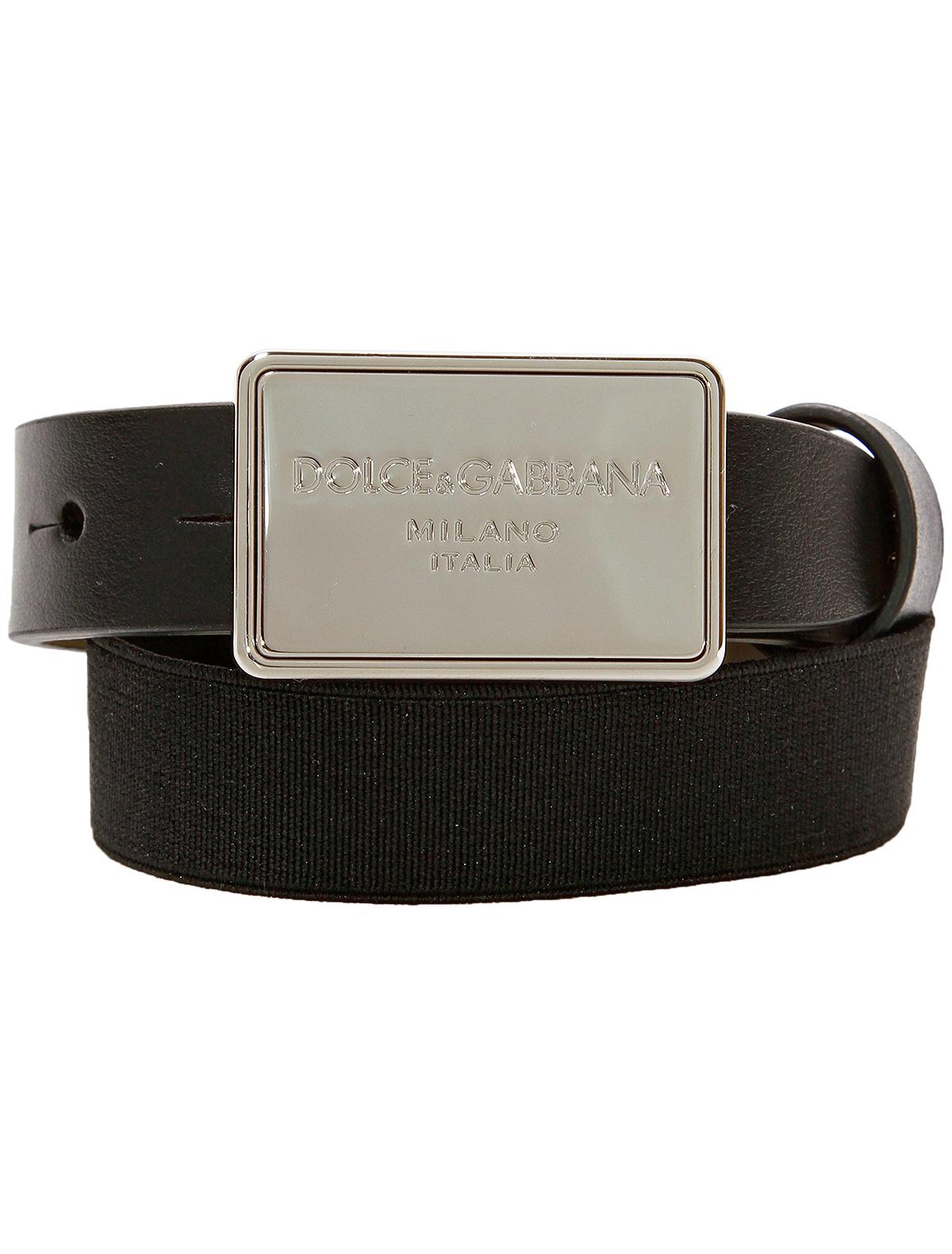 Купить 1845734, Ремень Dolce & Gabbana, черный, Мужской, 1301118880539