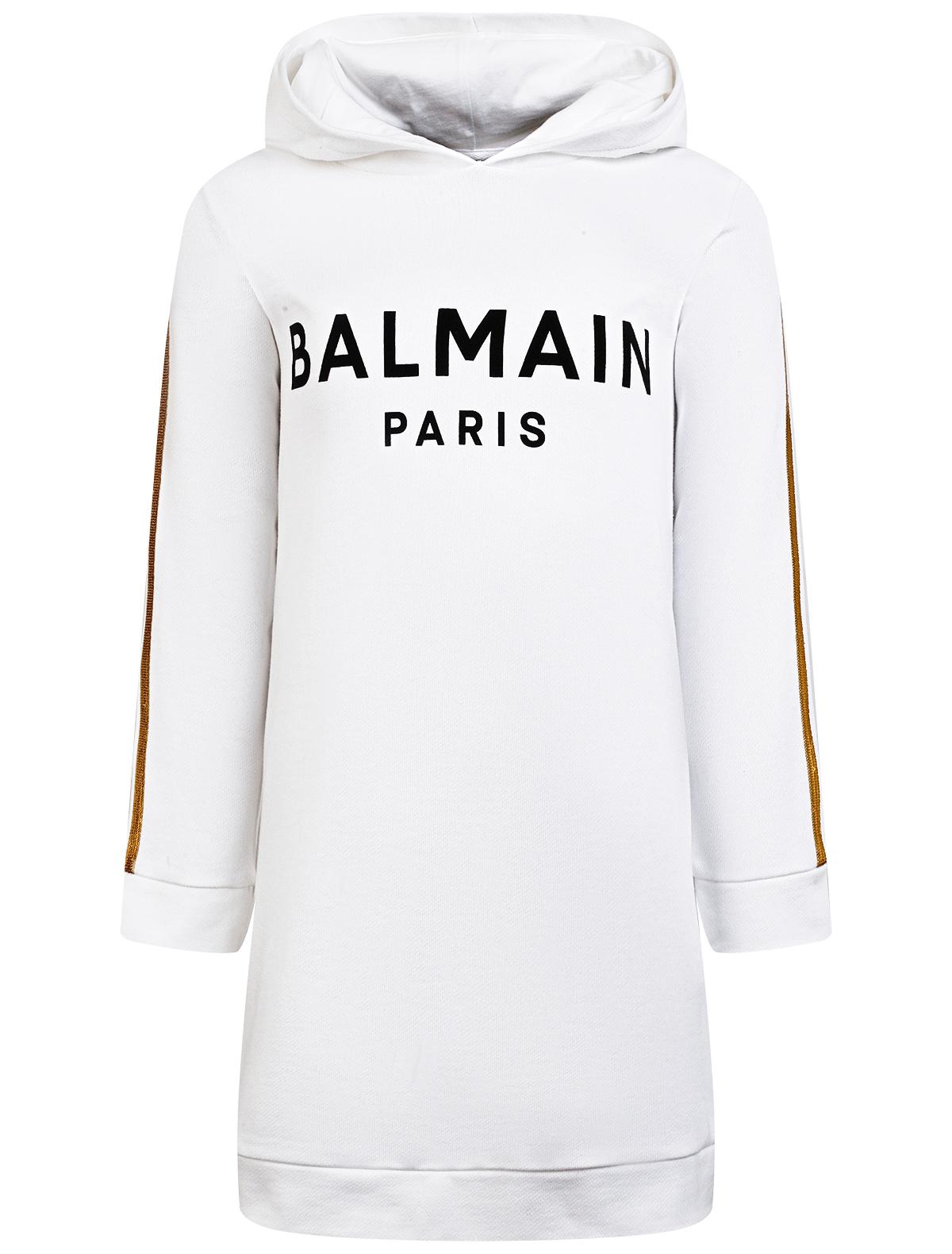 Платье Balmain белого цвета