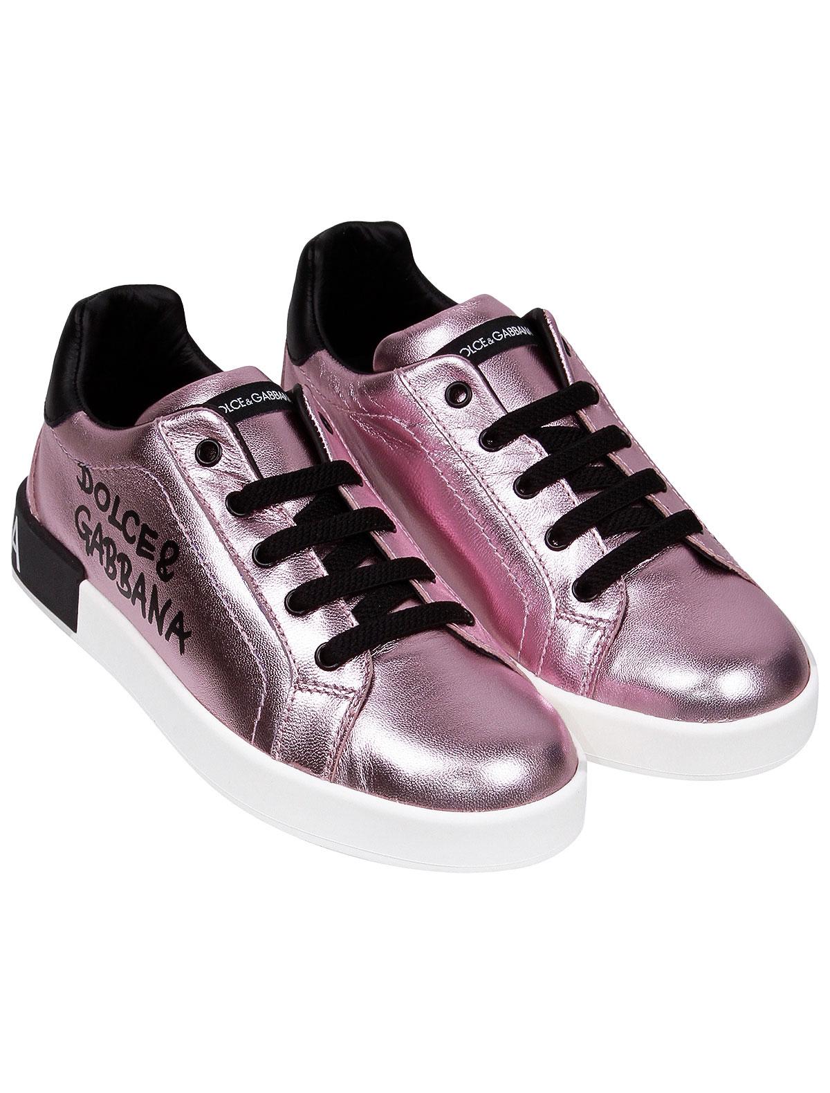 Кеды Dolce & Gabbana розового цвета