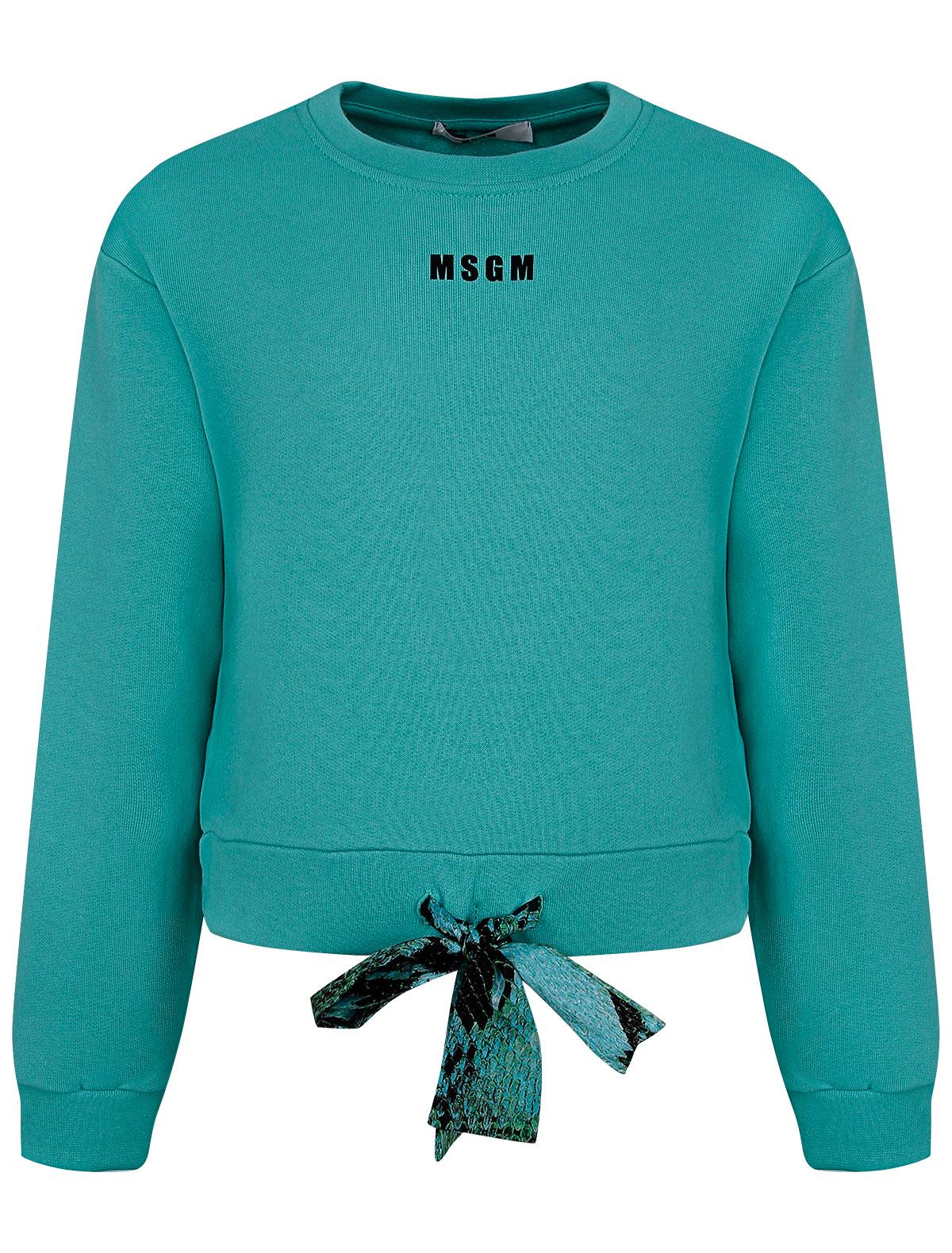 Свитшот MSGM зеленого цвета