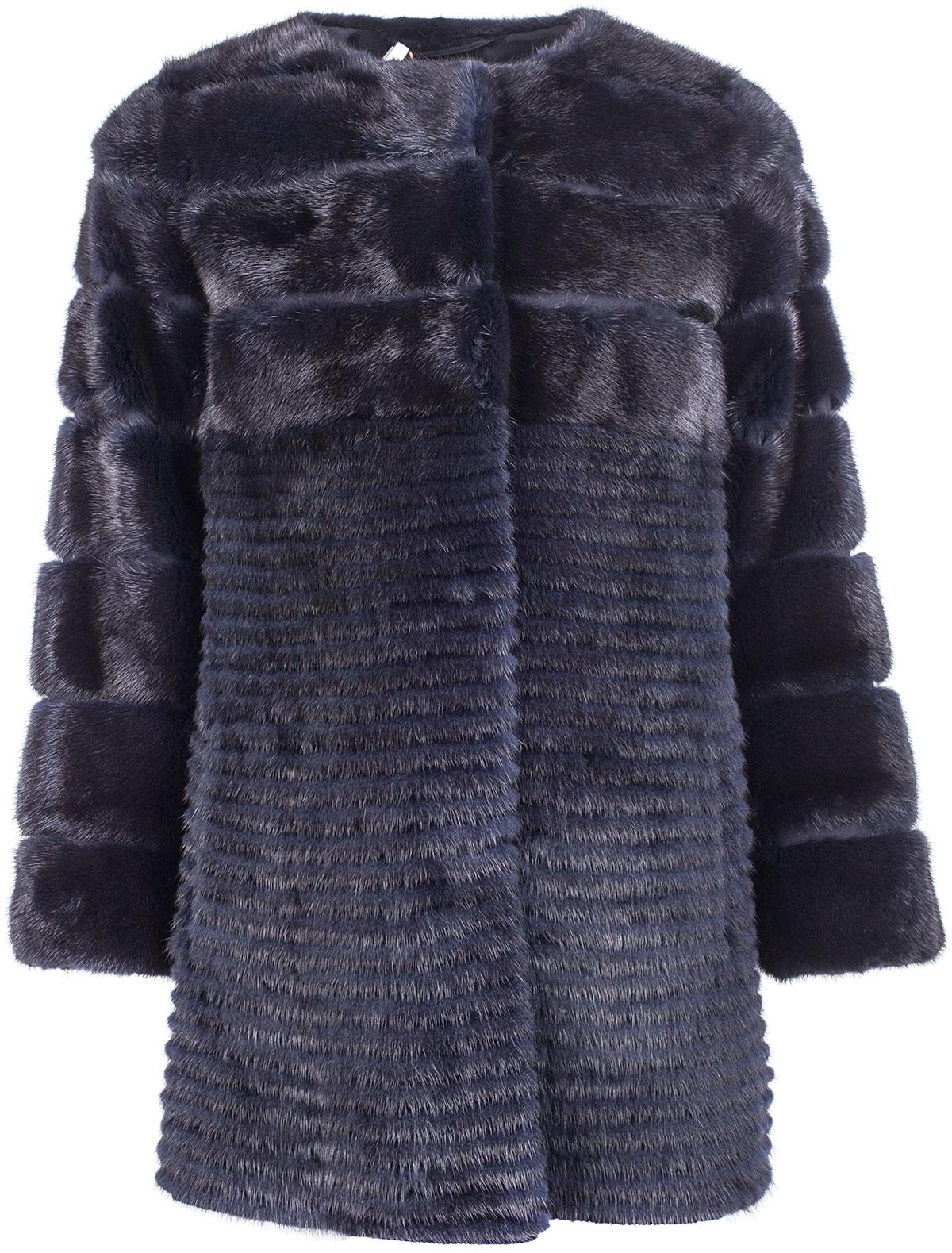 Купить 1912243, Пальто меховое (шуба) Yves Salomon, синий, Женский, 1730408680410