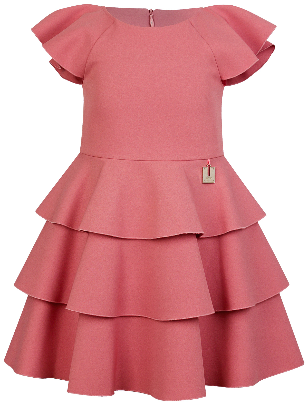 Купить 1991462, Платье ELISABETTA FRANCHI, розовый, Женский, 1052609970726