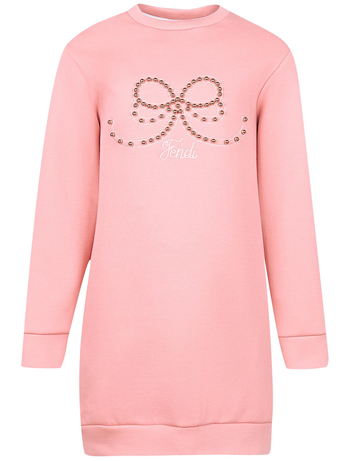 Купить 1870802, Платье Fendi, розовый, Женский, 1052609880438