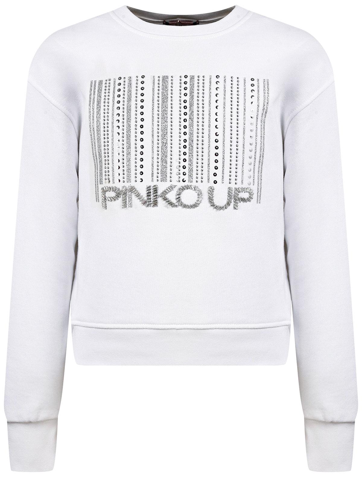 2275952, Свитшот Pinko Up, белый, Женский, 0084509171195  - купить со скидкой