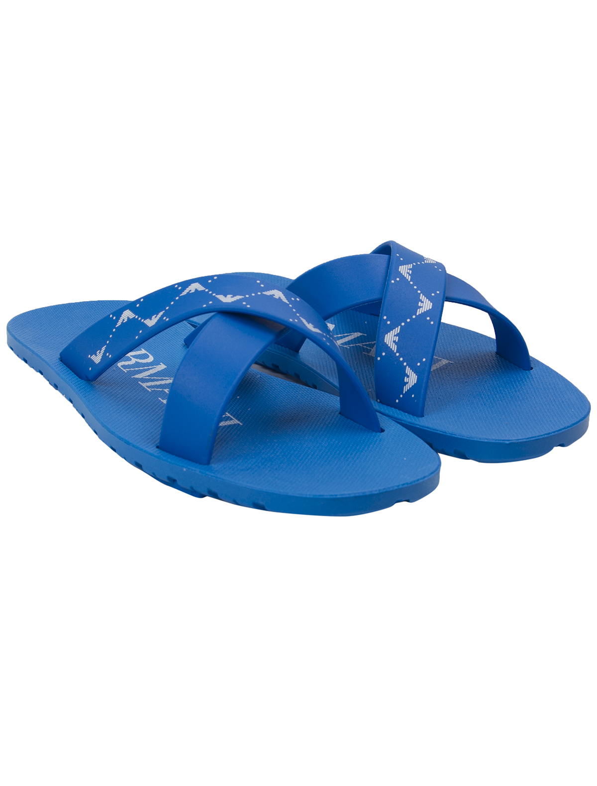 Купить 1924839, Шлепанцы пляжные Armani Junior, голубой, Мужской, 2281519670337
