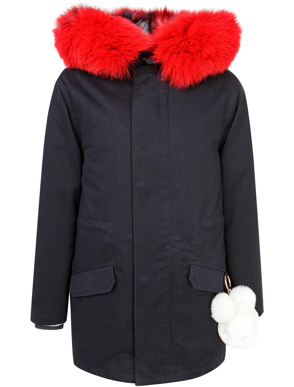 Купить 1935011, Куртка текстильная швейная Yves Salomon, синий, Женский, 4251408881630