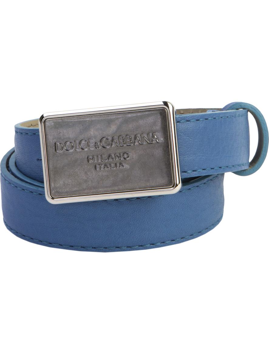 Купить 1899159, Ремень Dolce & Gabbana, голубой, 1301528570013
