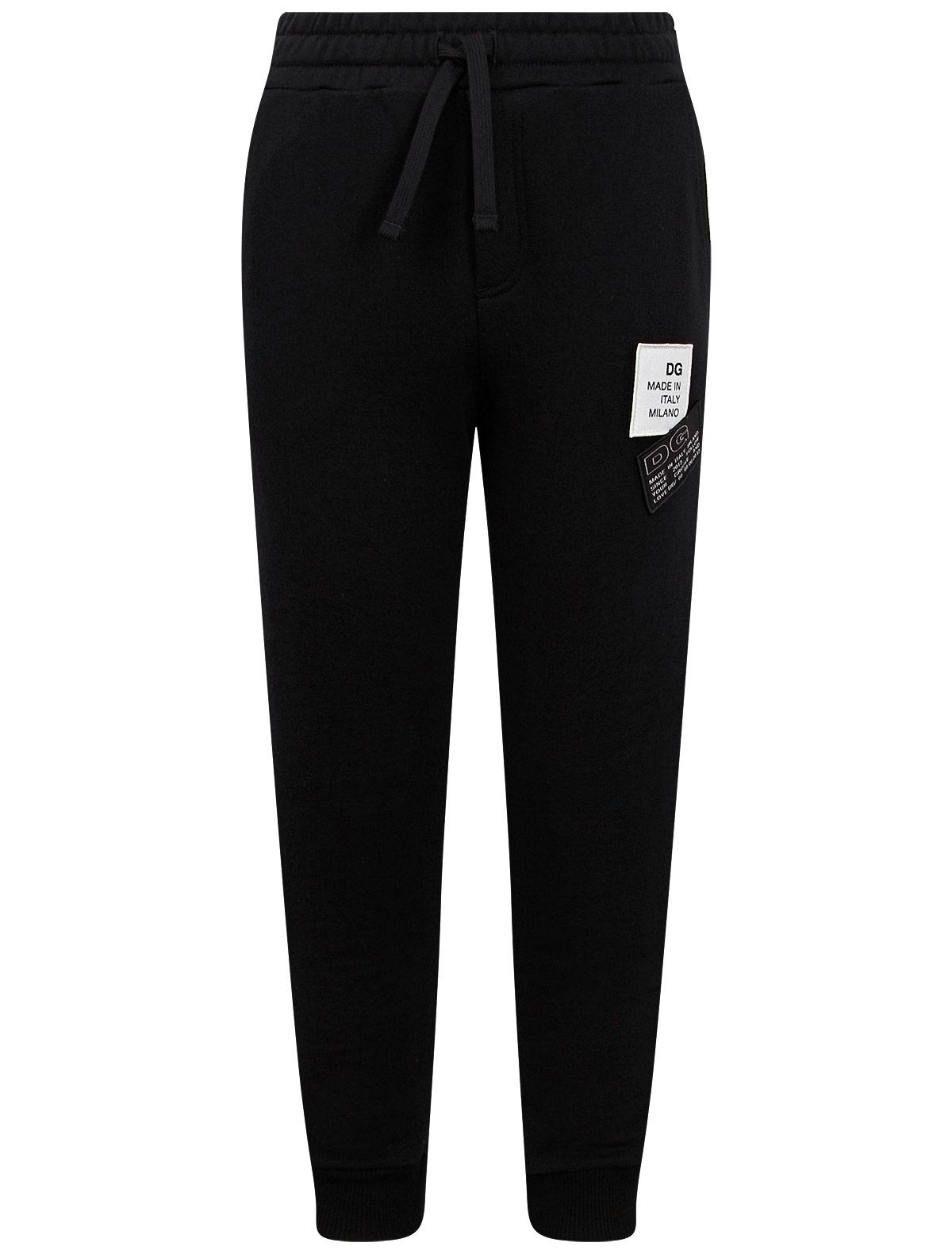 Брюки спортивные Dolce & Gabbana черного цвета