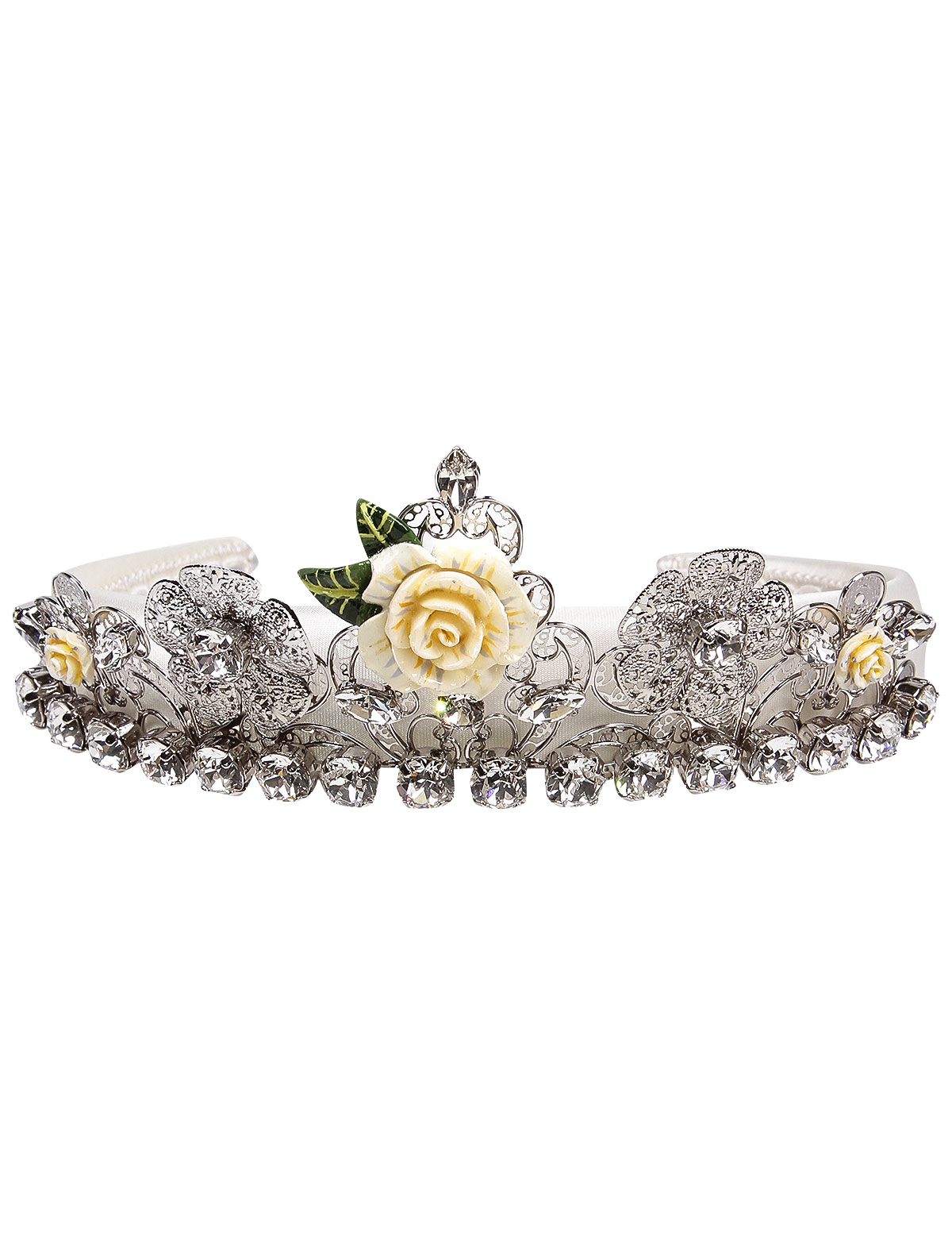Ободок Dolce & Gabbana белого цвета