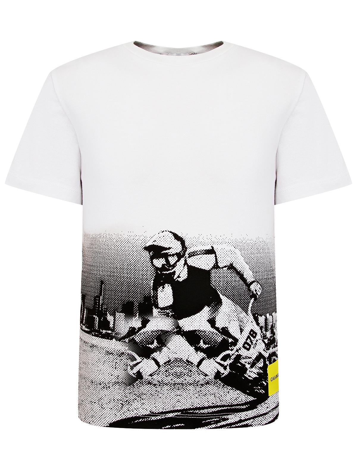 Купить 1985420, Футболка CALVIN KLEIN JEANS, белый, Мужской, 1131219971573