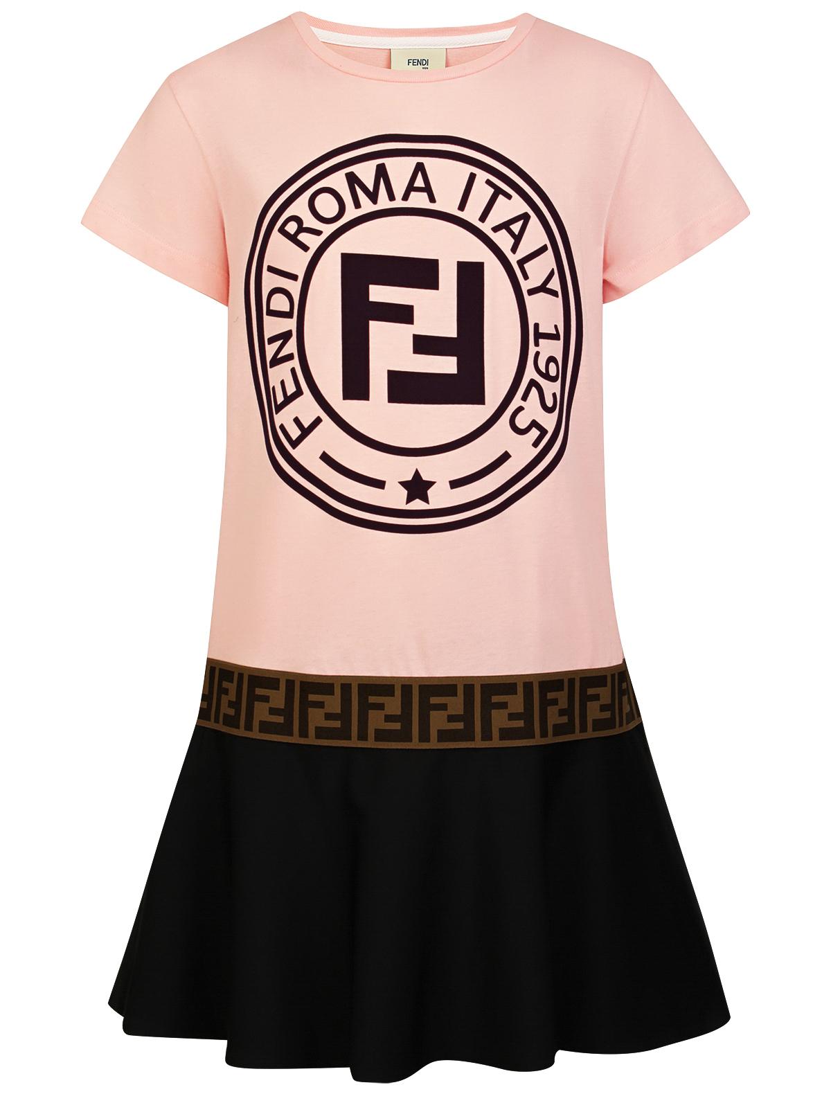 Купить 2108744, Платье Fendi, розовый, Женский, 1052609980701