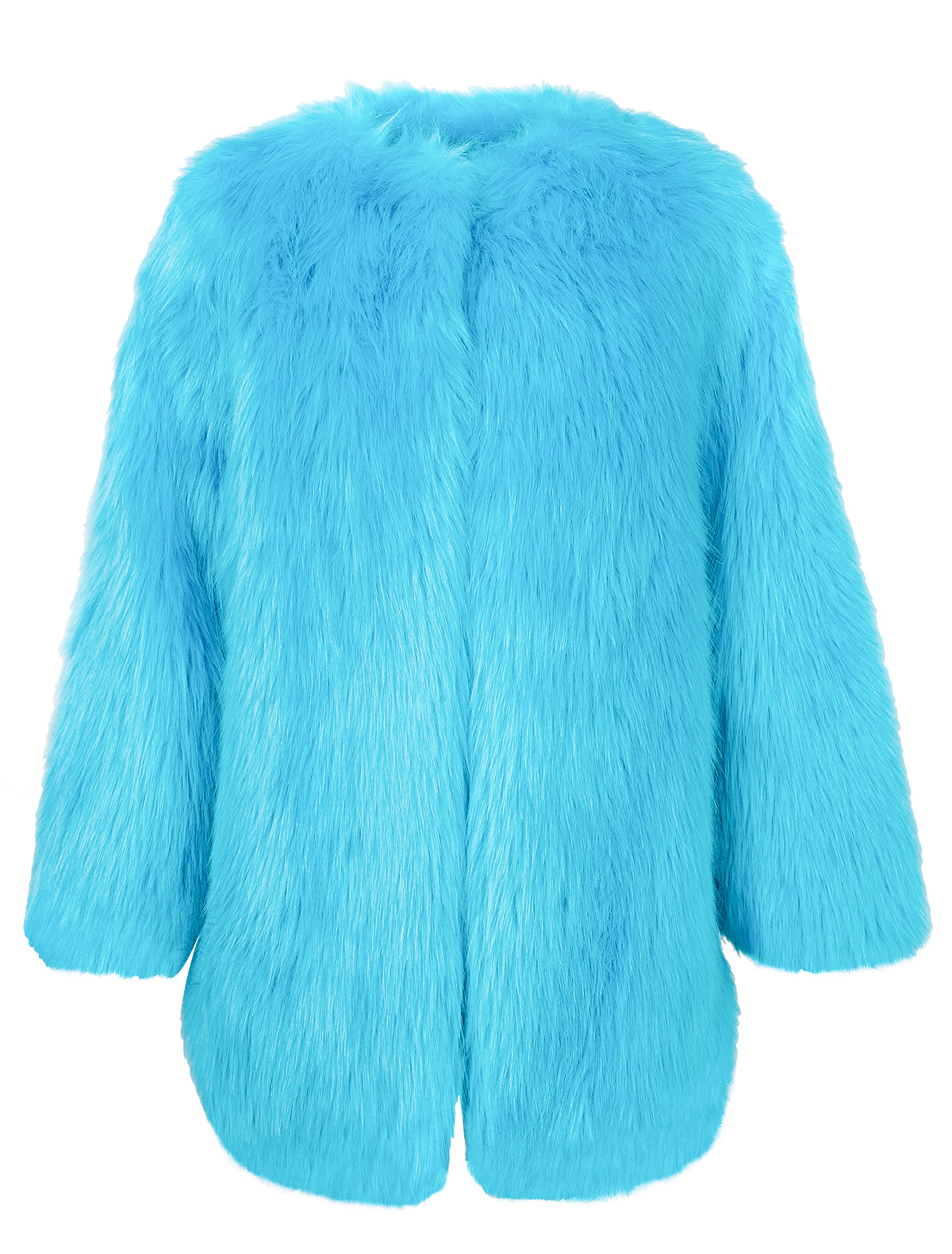 Куртка меховая MSGM голубого цвета