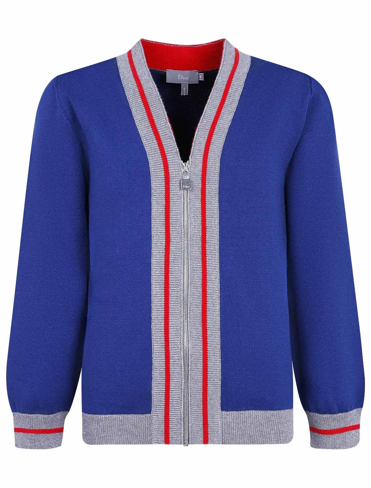 Купить 1903491, Кардиган Dior, синий, Мужской, 1401419870656