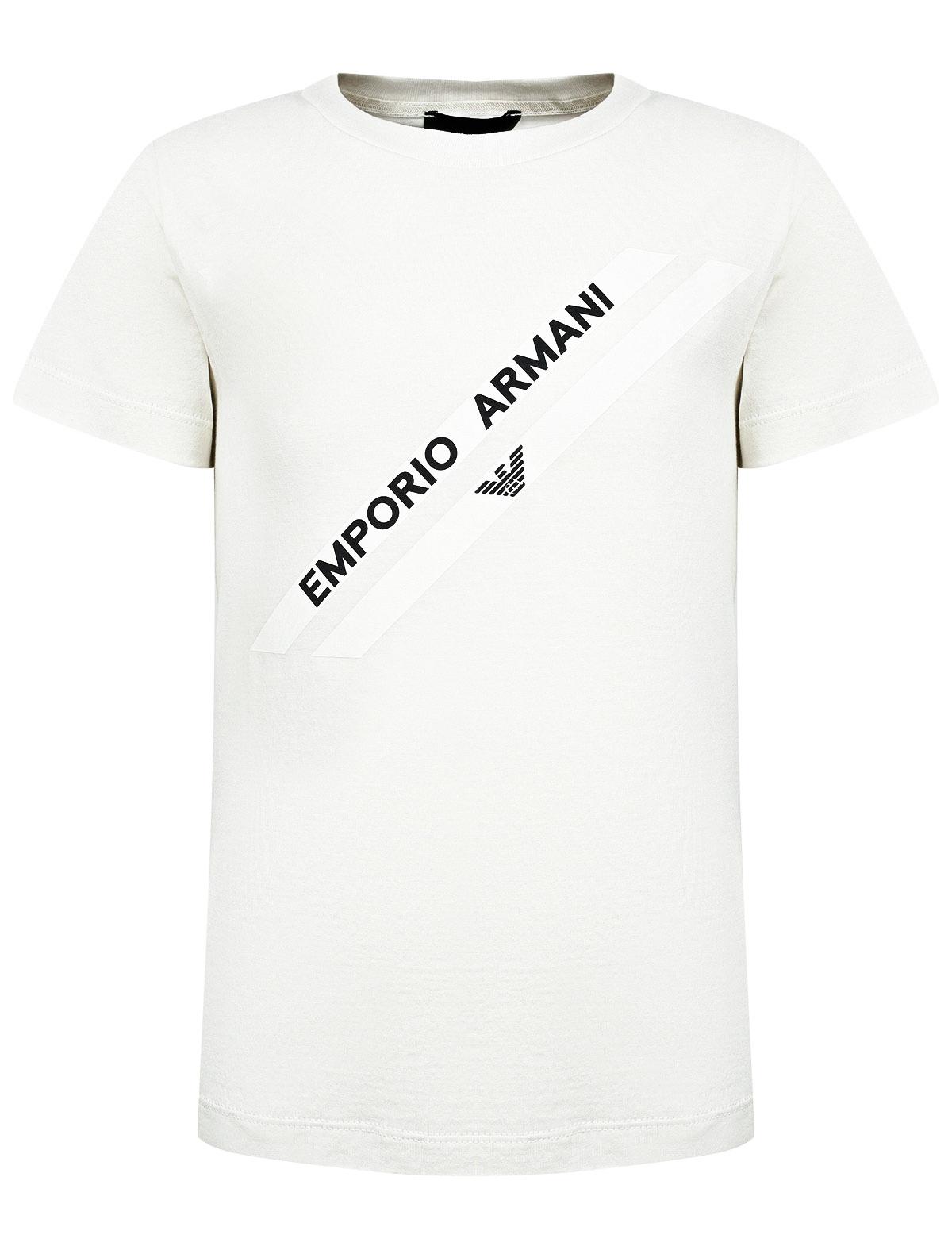 Купить 2290799, Футболка Armani Junior, белый, Мужской, 1134519176853
