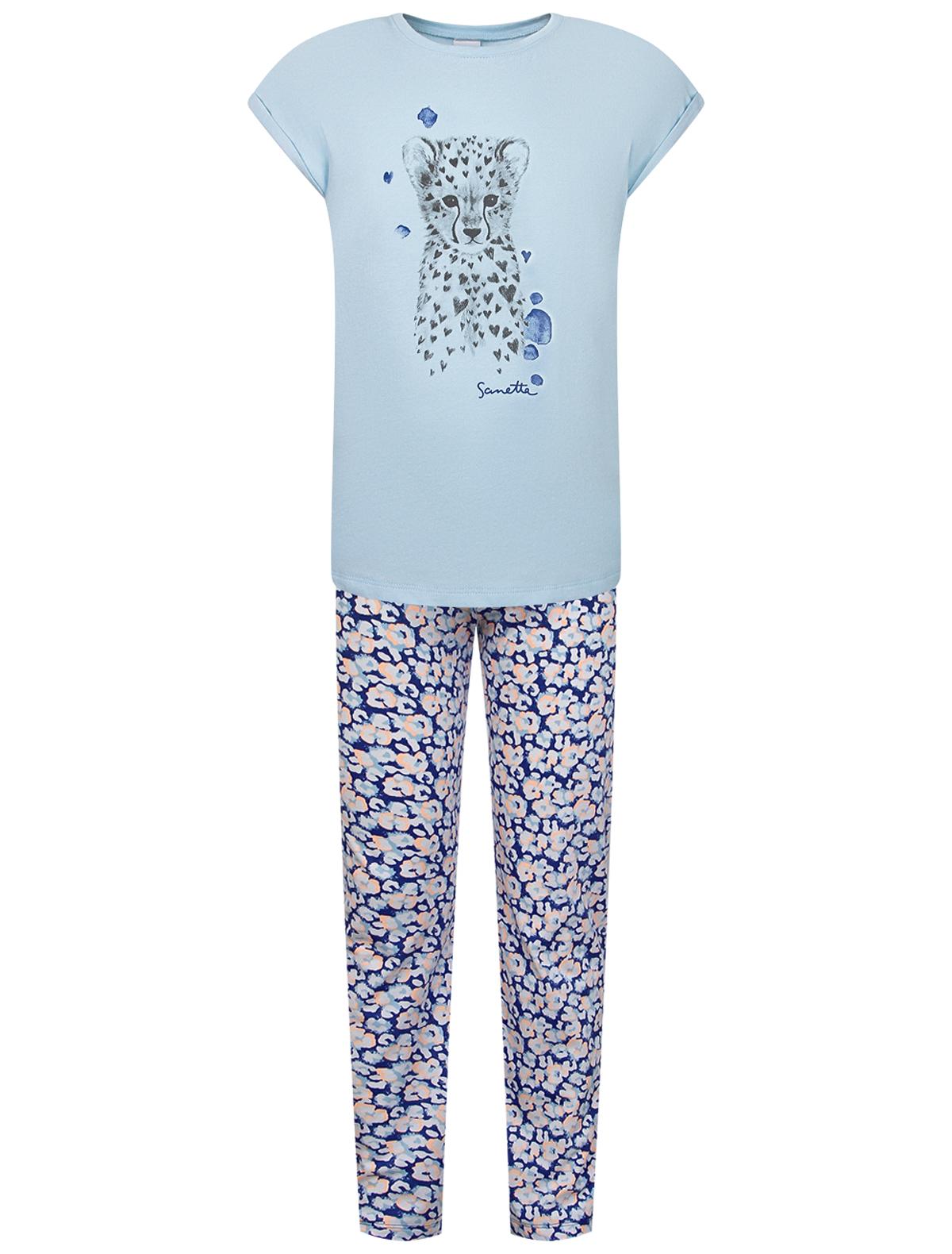 Пижама Sanetta голубого цвета
