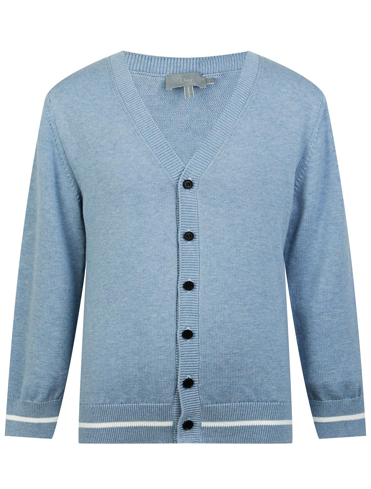 Купить 1955555, Кардиган Dior, голубой, Мужской, 1401519970638