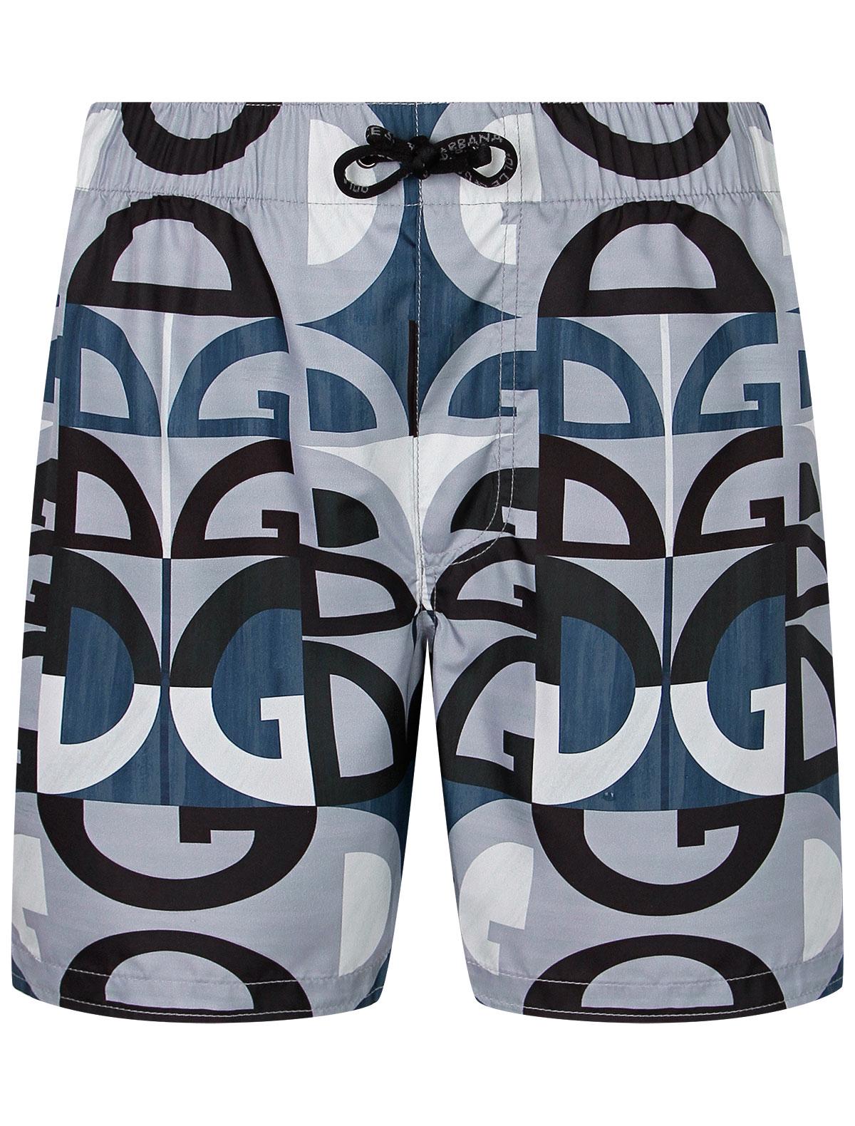 Купить 2302906, Шорты пляжные Dolce & Gabbana, серый, Мужской, 4104519171322