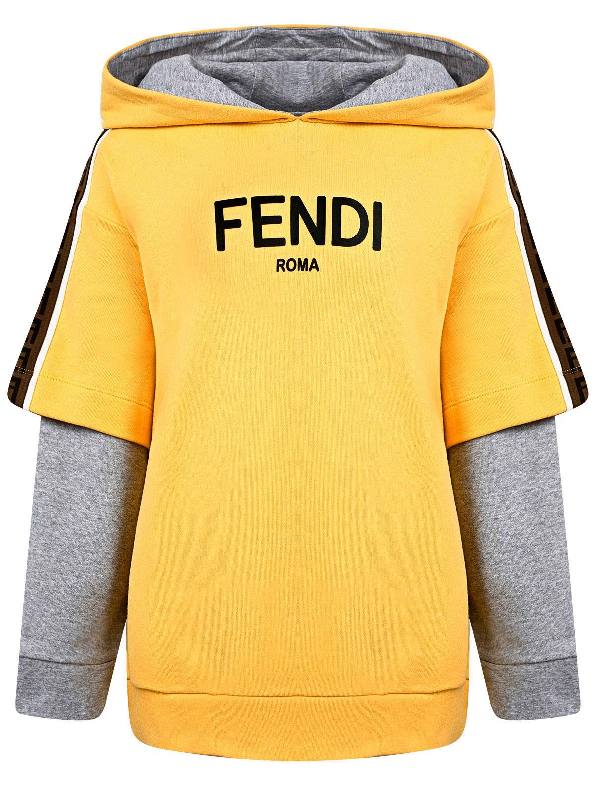 2296550, Худи Fendi, желтый, Мужской, 0094519170477  - купить со скидкой