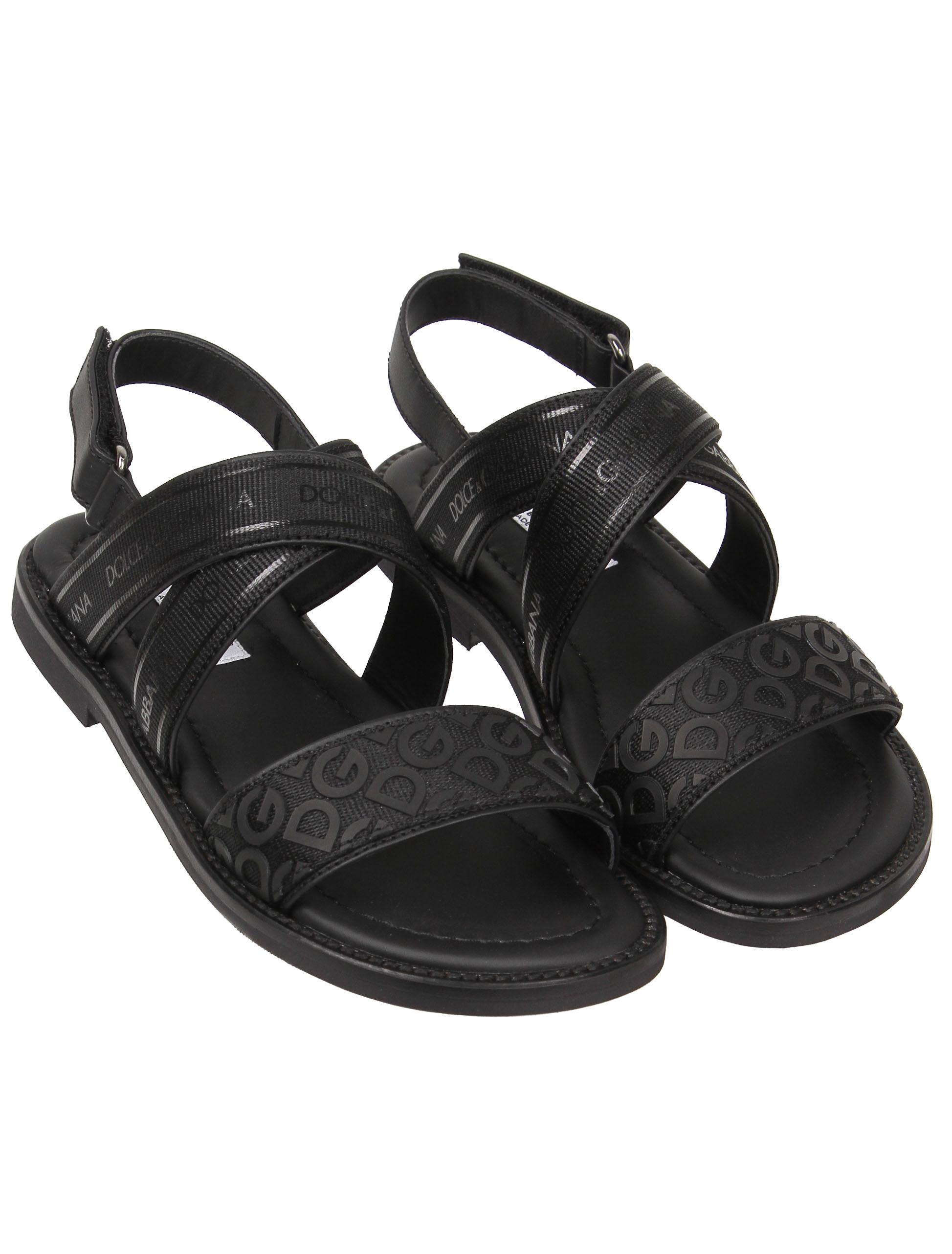 Сандалии Dolce & Gabbana черного цвета