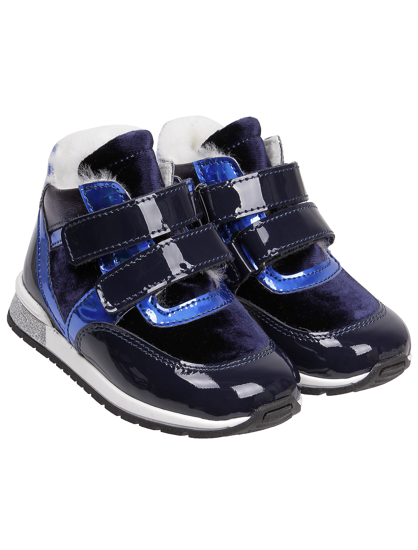 Ботинки Cherie синего цвета