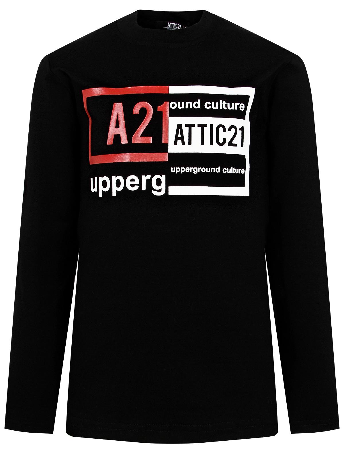 Купить 2136193, Лонгслив ATTIC21, черный, Мужской, 4161119980327