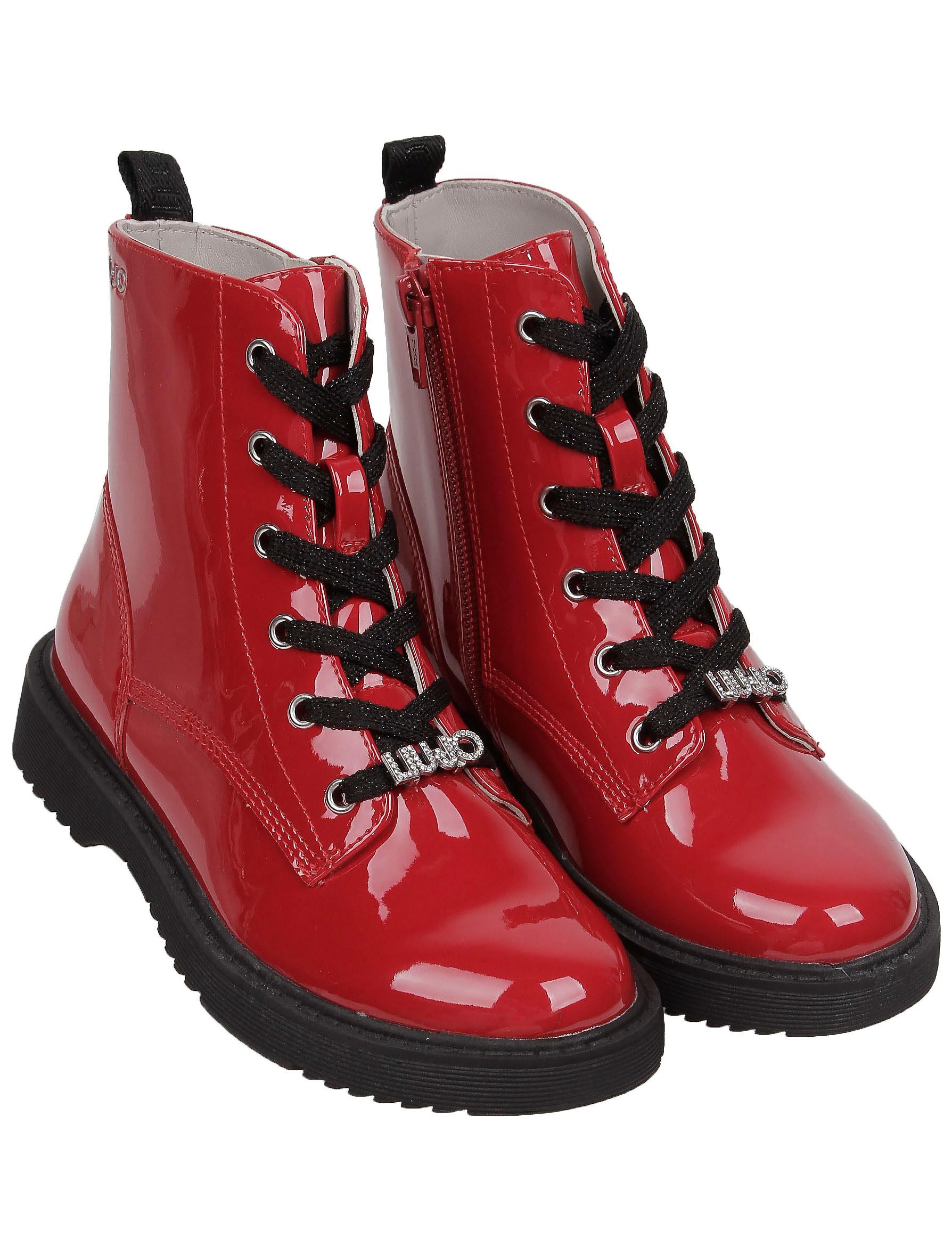 Купить 2254848, Ботинки Liu Jo Junior, красный, Женский, 2034509083569