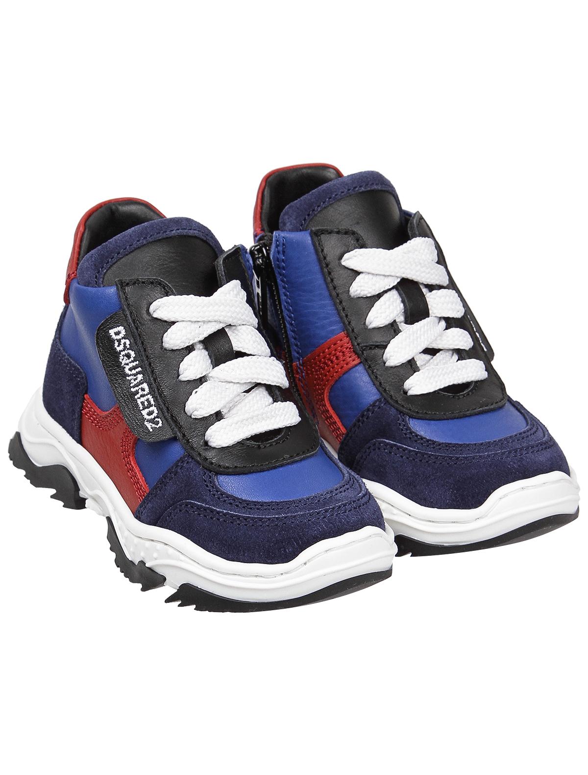 Кроссовки Dsquared2 синего цвета