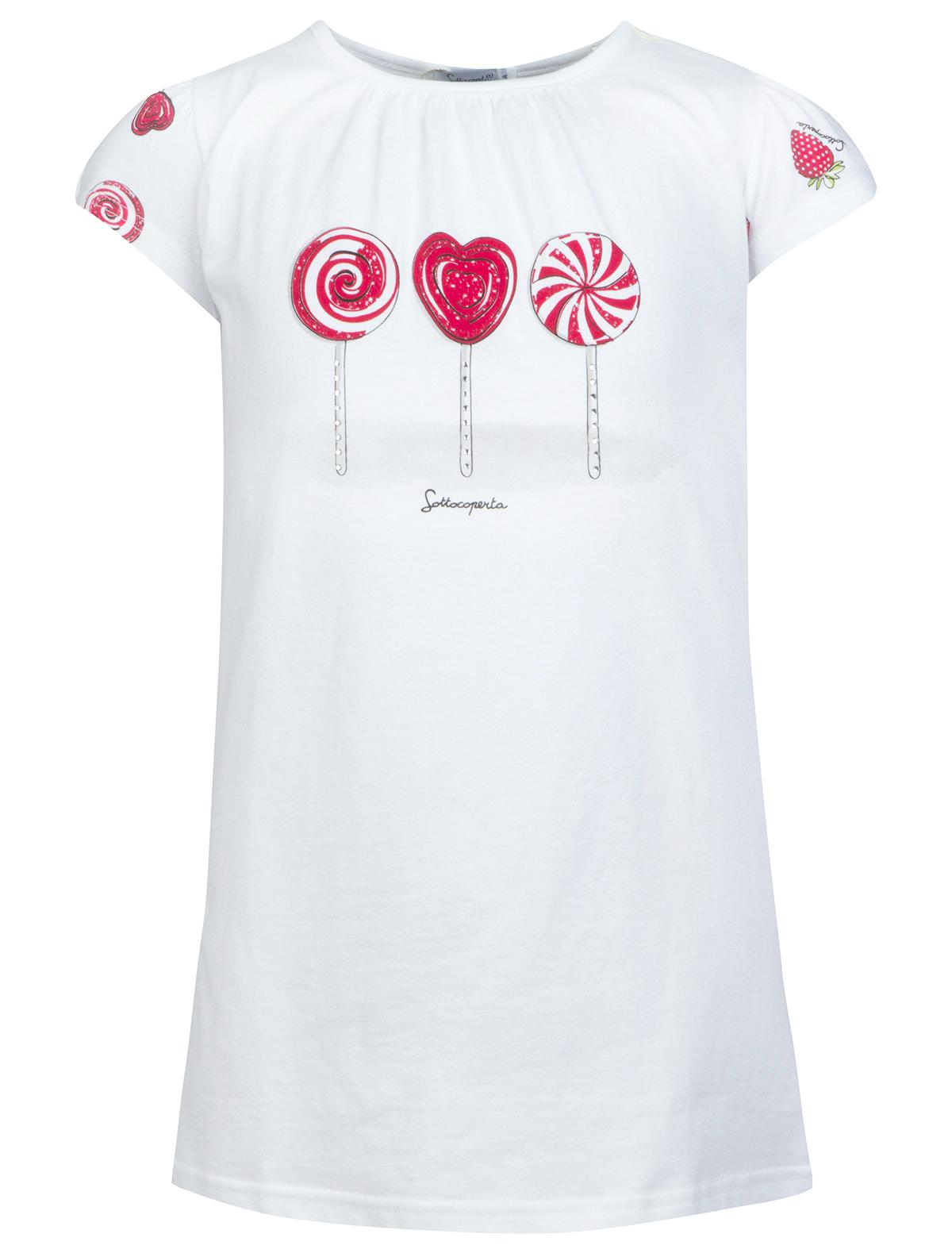 Купить 1929080, Ночная рубашка Sottocoperta, белый, Женский, 3341209670074