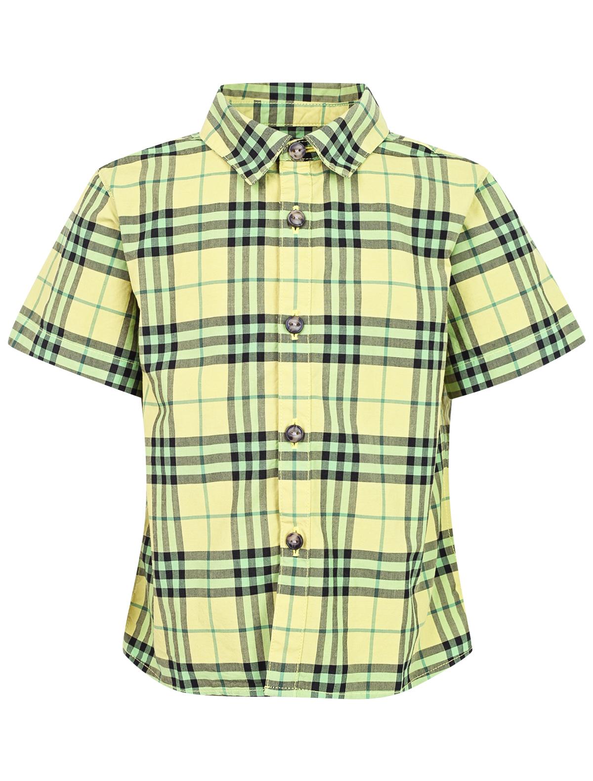 Купить 1955906, Рубашка Burberry, желтый, Мужской, 1012819971449