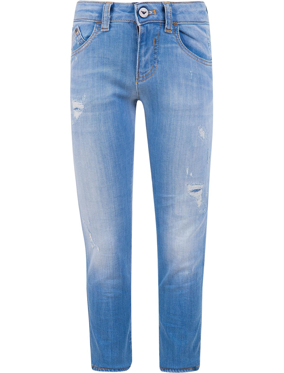 Купить 1890482, Джинсы Armani Junior, голубой, Мужской, 1161519770033