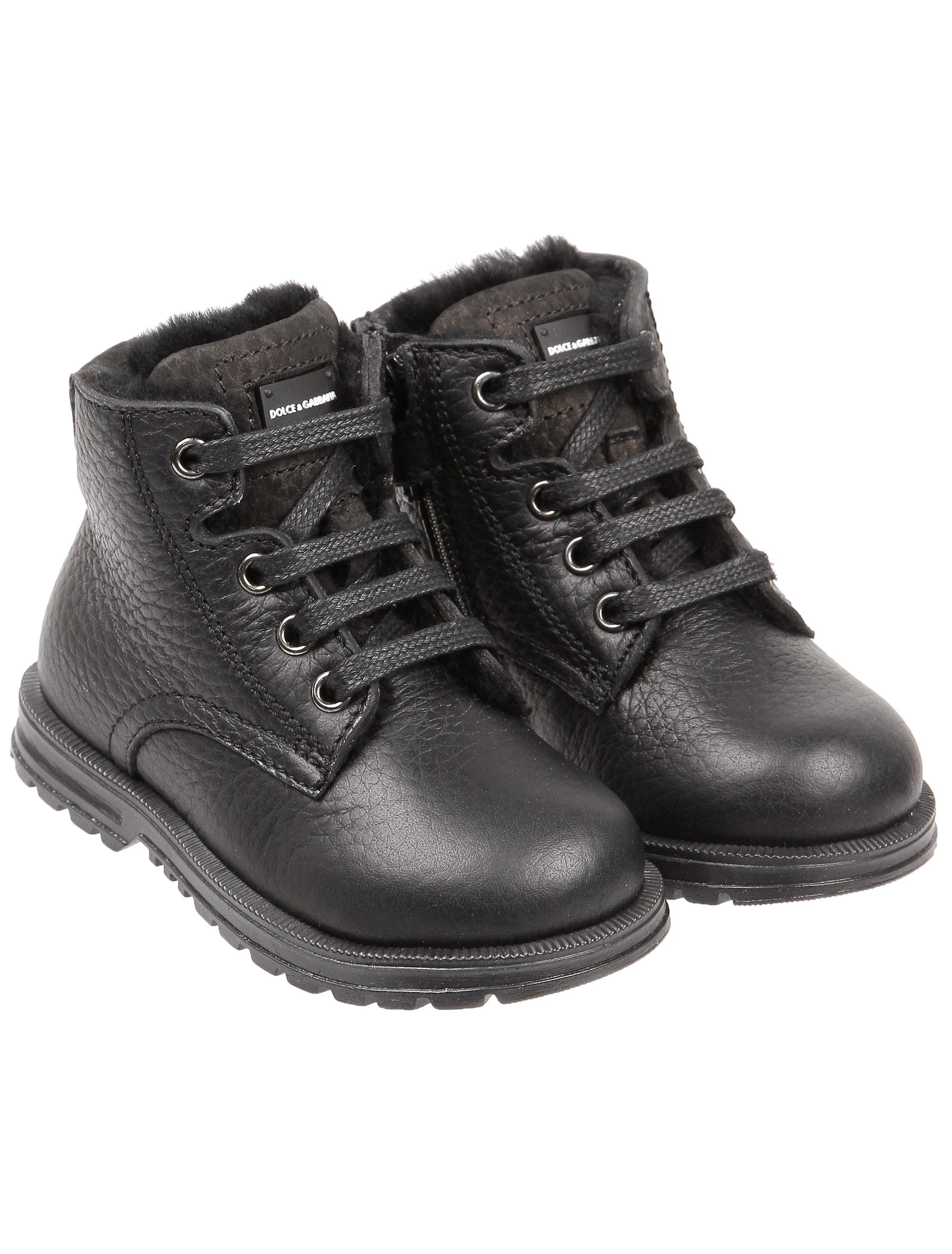 Купить 1845439, Ботинки Dolce & Gabbana, черный, Мужской, 2031119880229