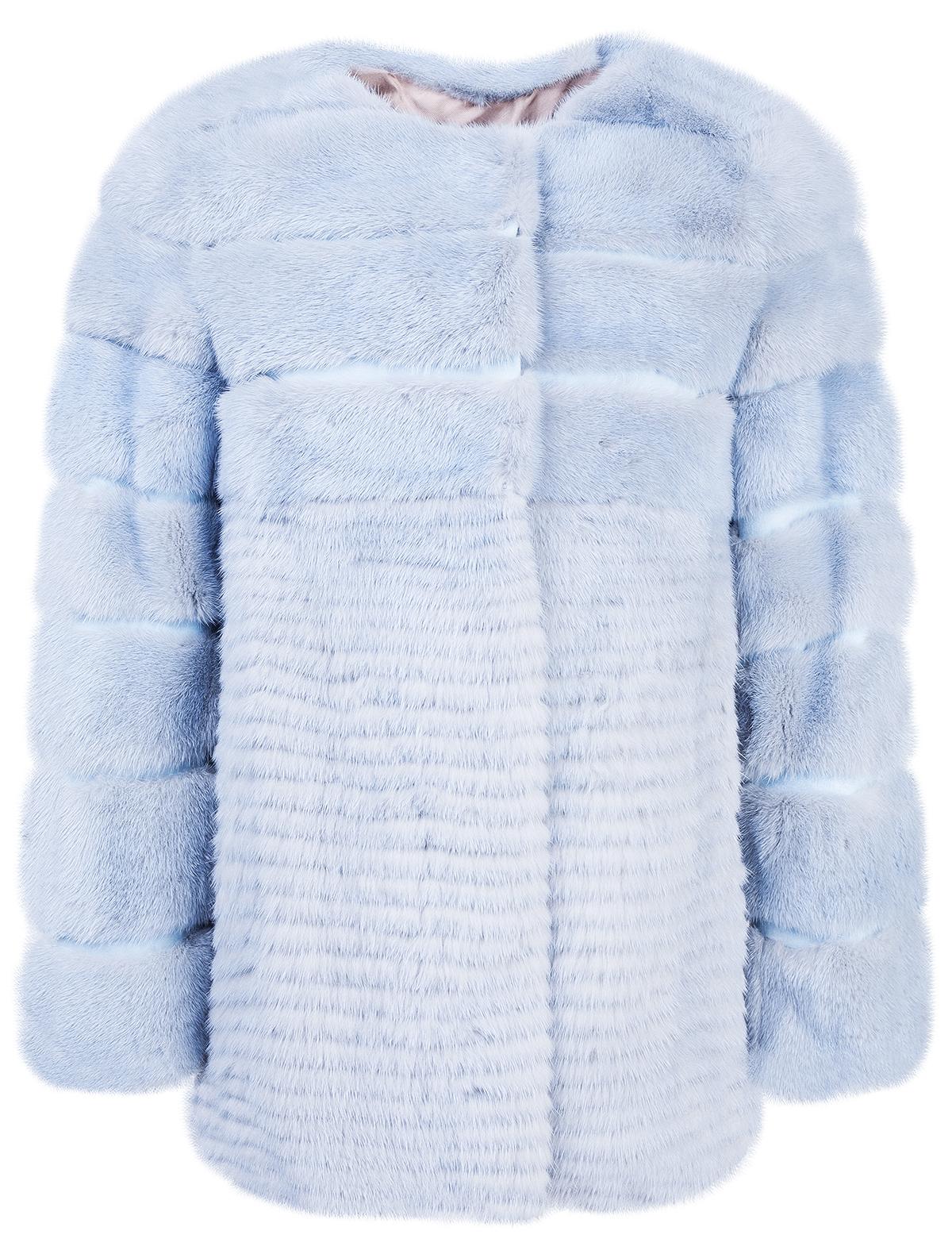 Купить 2142167, Пальто меховое (шуба) Yves Salomon, голубой, Женский, 1731508781366