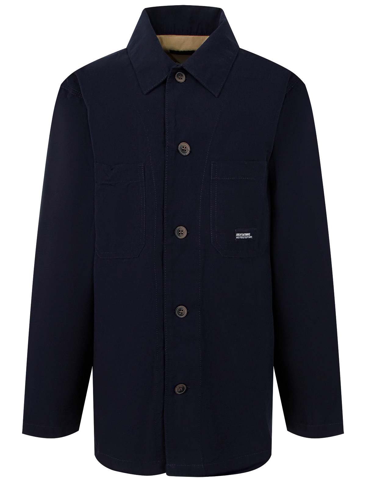 Купить 2286015, Рубашка NUKUTAVAKE, синий, Мужской, 1014519171464