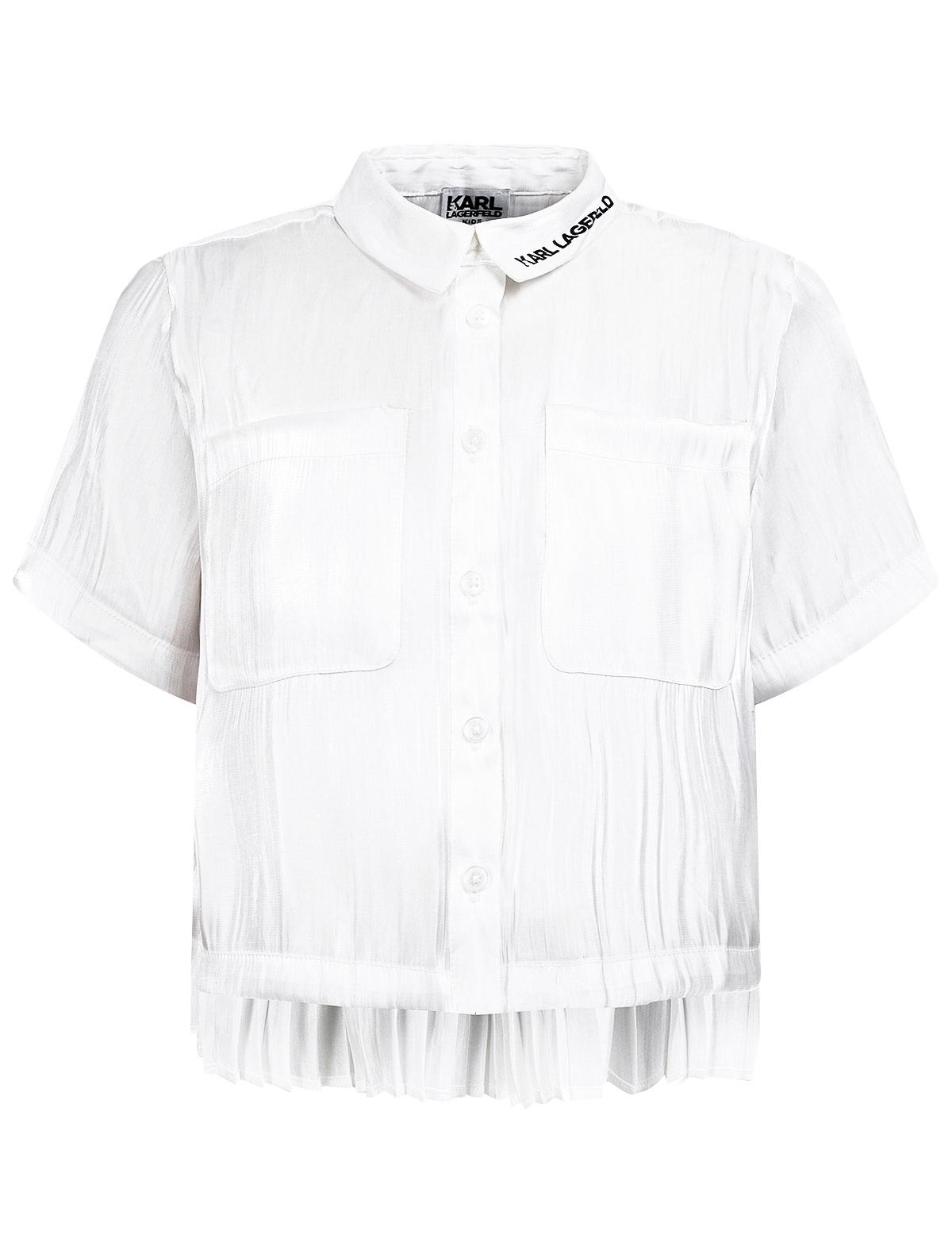 Блуза KARL LAGERFELD белого цвета