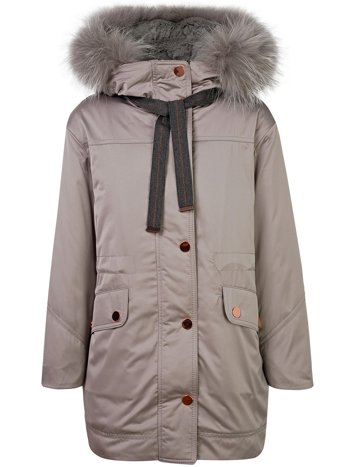 Купить 1879992, Пальто Jums Kids, серый, Женский, 1121709880270