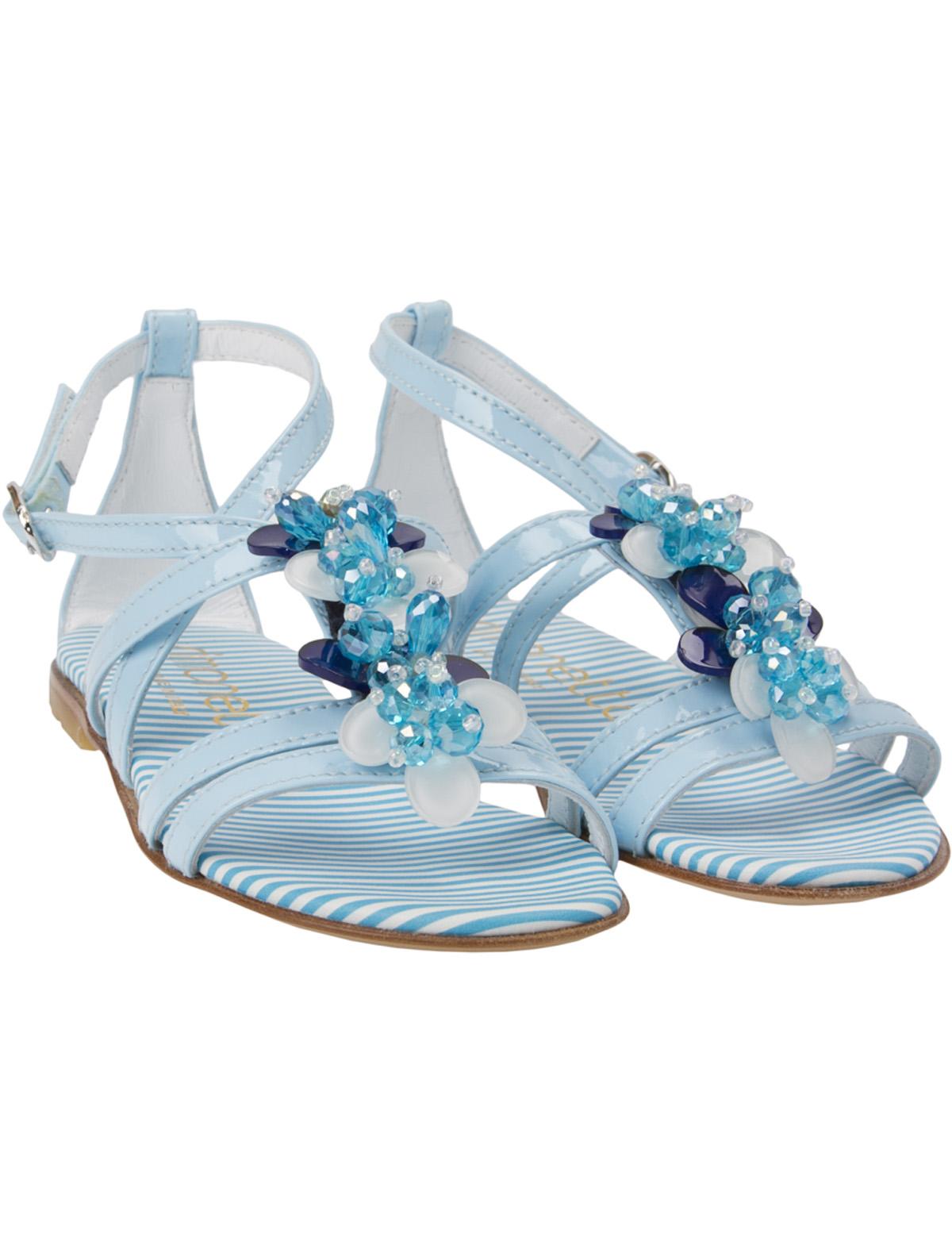 Босоножки Simonetta голубого цвета