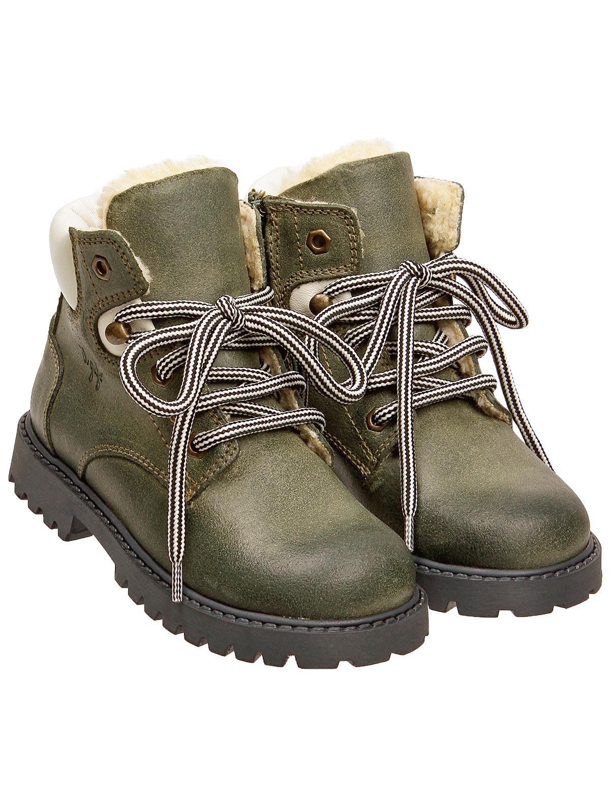 Купить 1917601, Ботинки Il Gufo, зеленый, Мужской, 2032219880157