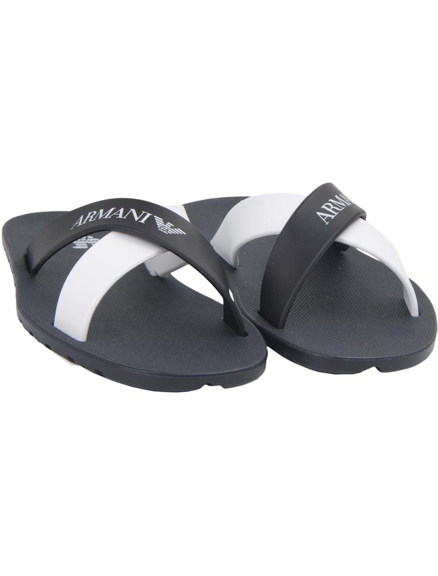 Купить 1924680, Шлепанцы пляжные Armani Junior, черный, Мужской, 2281119570044