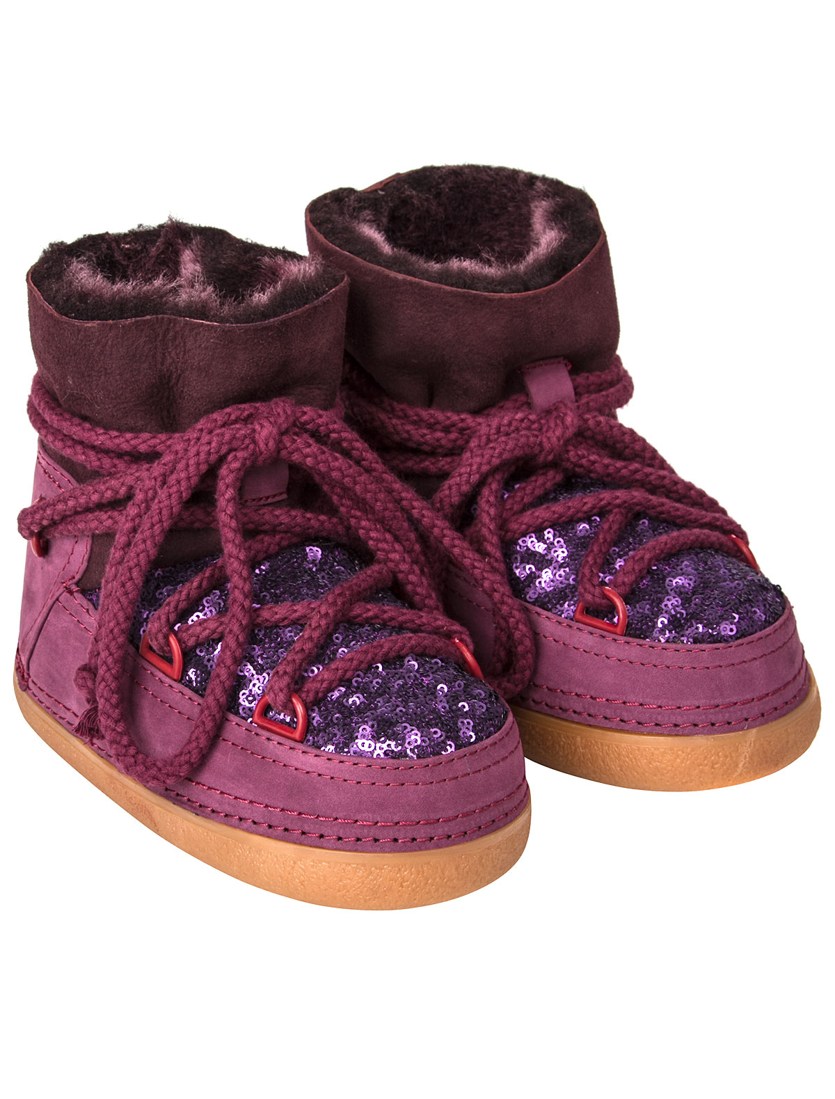 Ботинки INUIKII фиолетового цвета