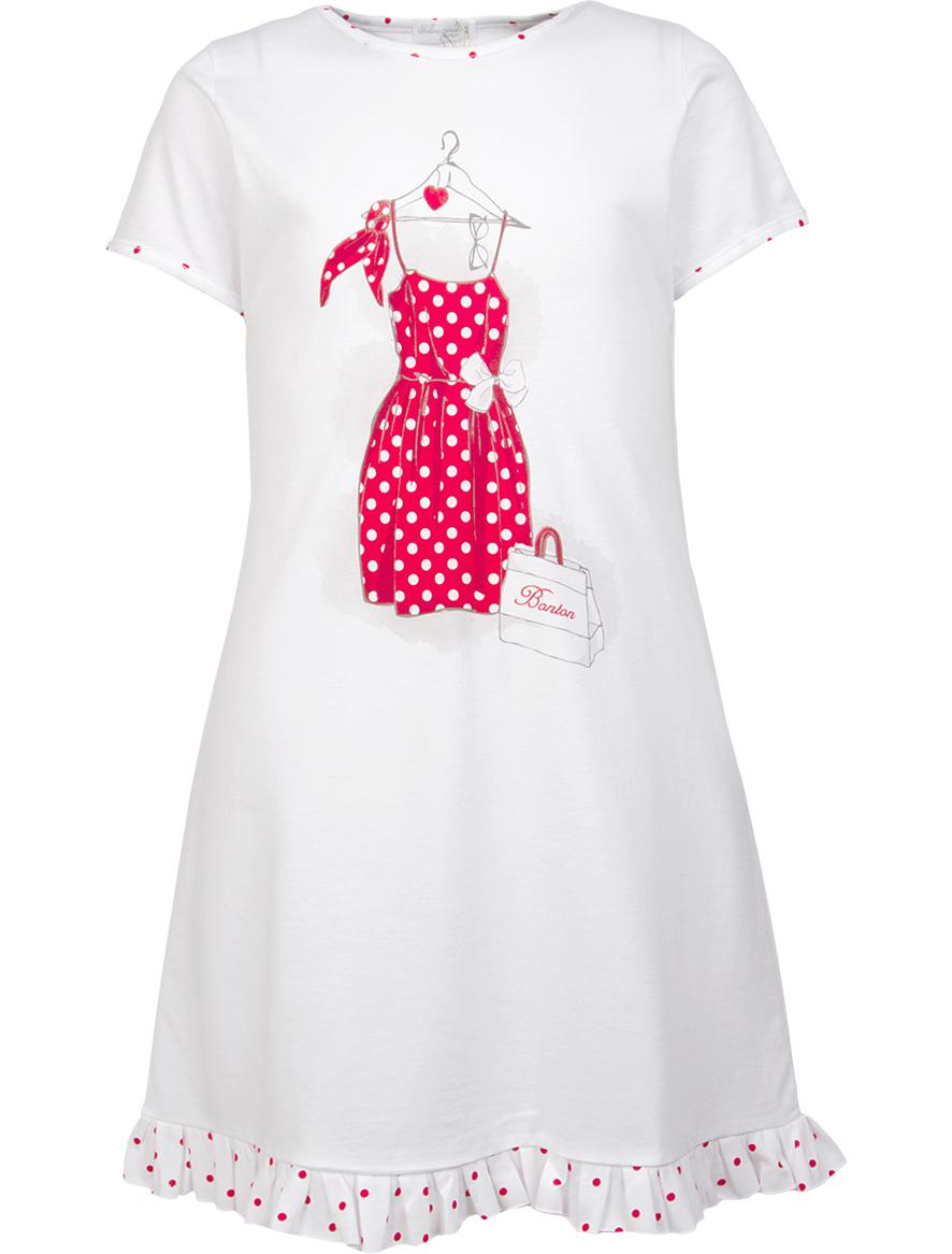 Купить 1929086, Ночная рубашка Sottocoperta, белый, Женский, 3341209670340