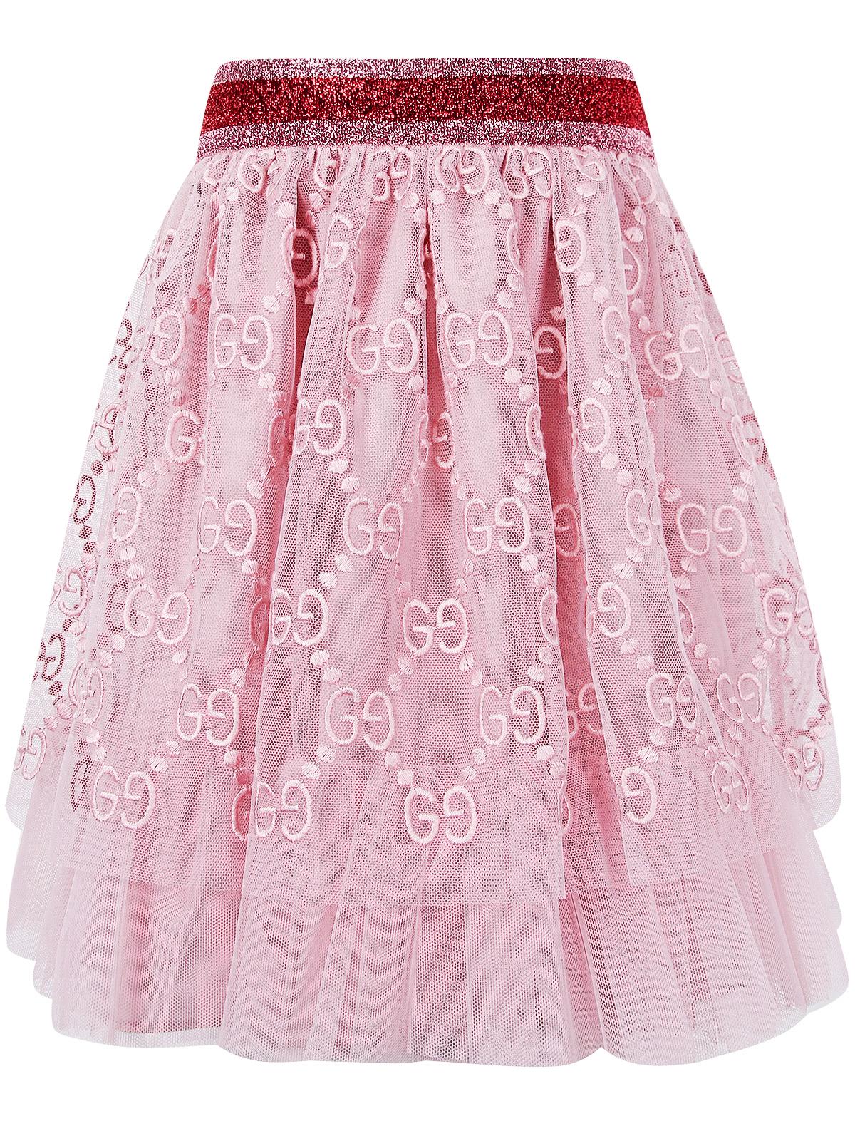 Купить 1947697, Юбка GUCCI, розовый, Женский, 1042609970031