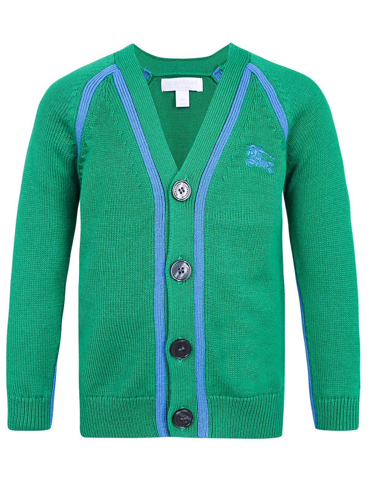 Купить 1955938, Кардиган Burberry, зеленый, Мужской, 1402219971314